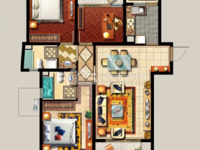 西西那堤 3室2厅2卫 全新毛坯 西边套 景观房 性价比高!