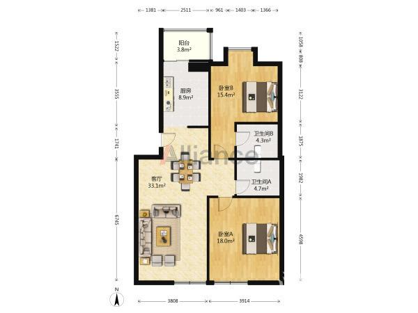 亿丰国际建材城整套出售,满五,房东诚心出售 看房方便:103110544457