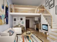 翰林世家70年产权LOFT公寓,买一层送一层,48方,两房两厅一卫,78万