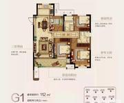 G1户型 4房2厅2卫 约112㎡