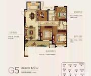 G5户型 4房2厅2卫 约135㎡