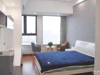 C240信业ICC21楼,单身公寓,40平,朝北,全新精装修首次出租家具家电齐全