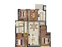 城东万达旁 精装修电梯花园洋房 户型方正 得房率高 品质小区 看房来电享折扣