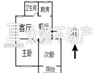 市陌西区 2室2厅 6楼 简装 满2年 标准户型 2房朝南 全明格局