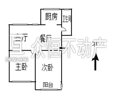 墙壕里小区 2室2厅 6楼 中档装修 免双税 有独立自行车库