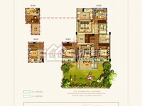 永晖 壹号院花园洋房一楼带花园,109方,三房两厅两卫,南花园近50方,包一半税