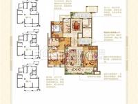 万达商圈,湖东府11楼,144平,稀缺双阳台,三四开间朝南,南北通透,190万