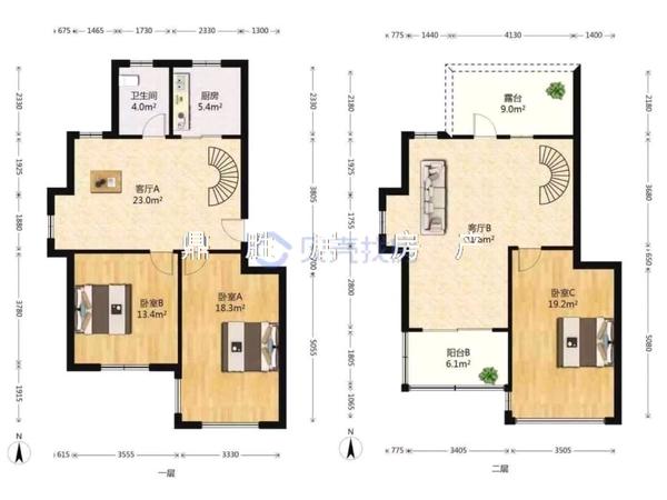 出售民和花园3室3厅1卫130平米135万住宅