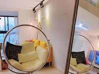 H105凤凰明珠单身公寓loft结构两室两厅实际100平,精装修朝南