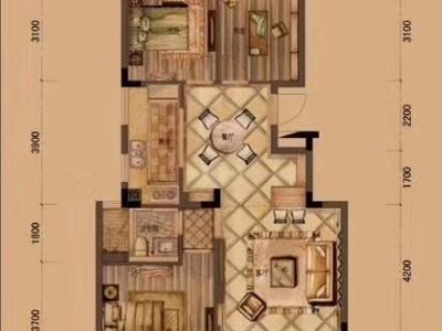国贸仁皇一期,93平米,145万,三室两厅一卫,毛坯,满2年,