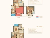 太湖度假区现房叠墅,上叠150方,四房两厅三卫,南开间约8米,总价200万