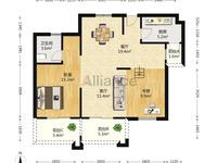 翰林世家最便宜的一套,三室两厅一卫