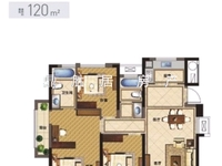 出售健康城,3室2厅2卫,全新毛坯,地段非常好,双学区名校