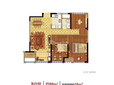 出售保利 堂禧3室2厅1卫86平米148万住宅