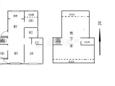 01191滨江十里春晓洋房 一楼带地下室带院子 送车位 230平 310万