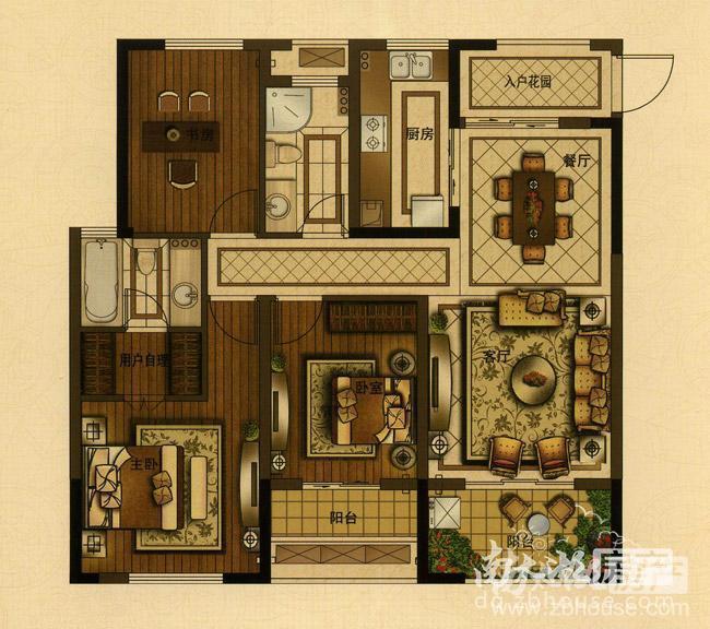 F4 三室两厅两卫