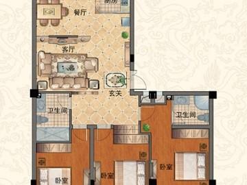 F 三室两厅两卫