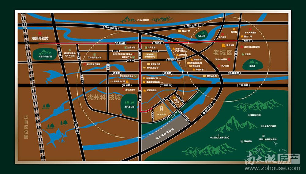 汎港·润合交通图