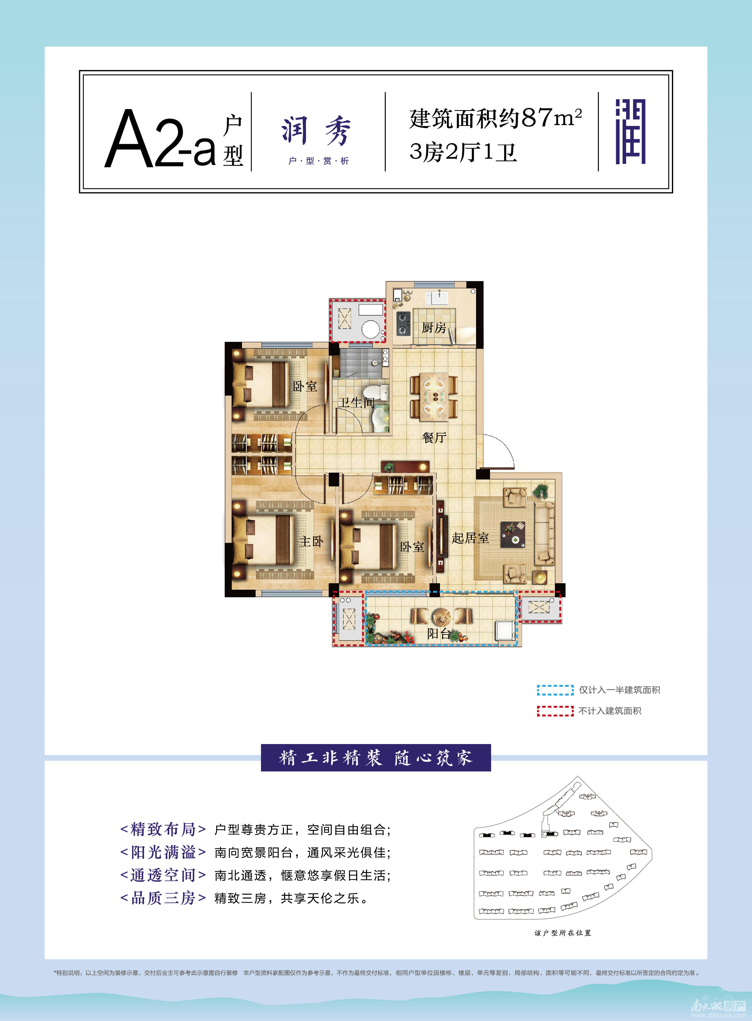 A2-a户型87㎡