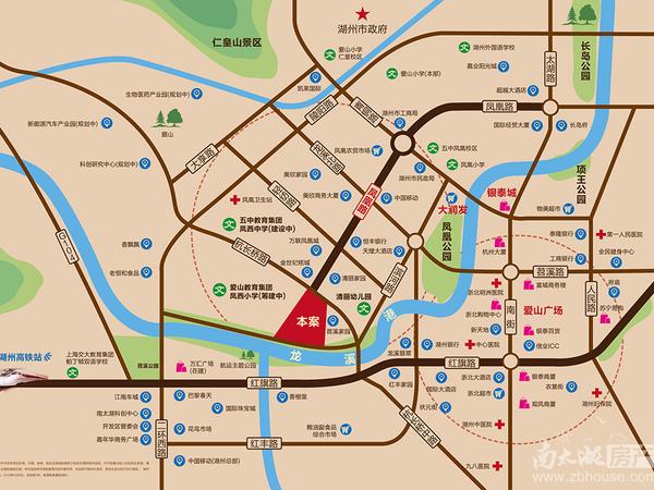 湖州市中心 首付三成 凤凰板块 9月份交房 可用公积金 爱山 五中学区 位置好
