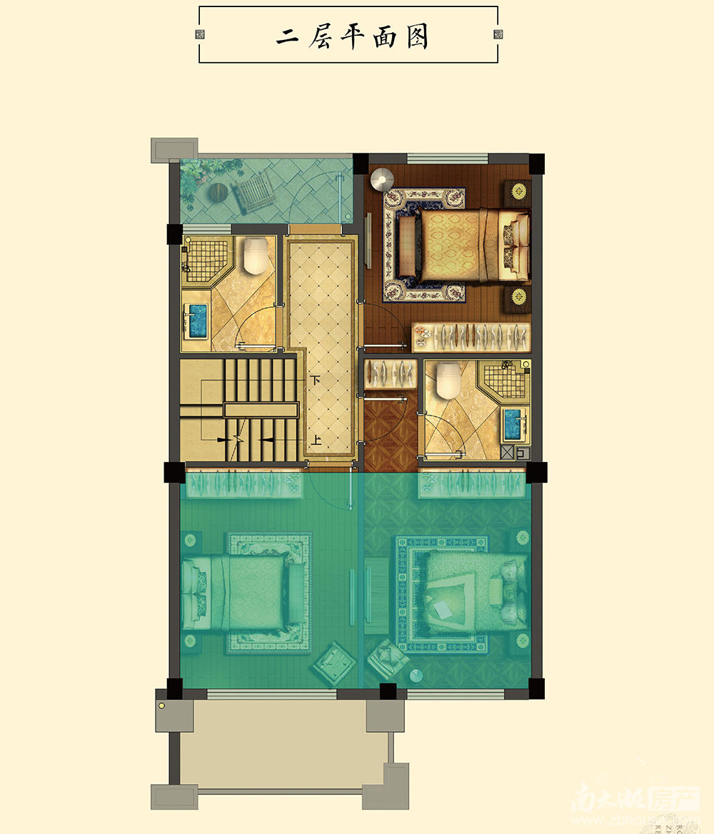 排屋B户型二层