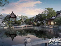绿城晓荷江南湖景中式叠加别墅 精装修131平 送180平花园