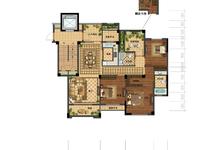 奥园壹号洋房7楼西边套,127方,四房两厅两卫,全部落地窗,195万,车位18万