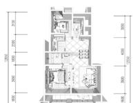 岁金时代 2室2厅 全新毛坯 含车位总价90万 包二税!