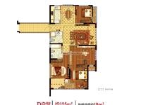 国贸仁皇二期11楼边套,126方,四房两厅两卫,售价带车位177万