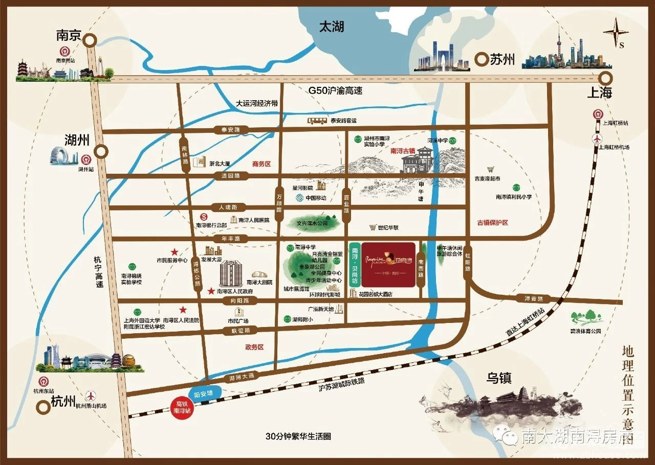 南浔贝尚湾二期交通图