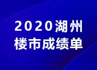 2020湖州楼市成绩单发布!