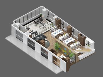 loft办公4合1-1F(丝绸小镇创谷项目)