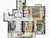 312 湖悦天境黄金楼层 112平米 三室二厅二卫 毛坯 户型好 采光好